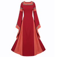 Medieval Women Clothing European Style Palace Dresses For Women Christian Stagewear Women Dress Plus Size Game Clothing C2046