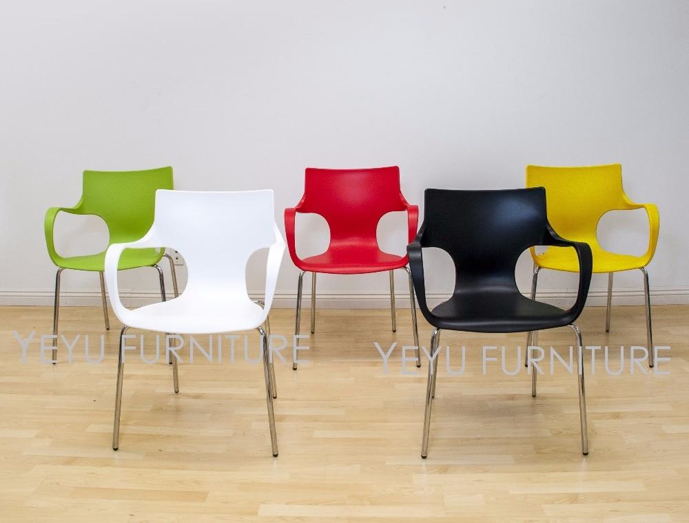 Moderne Haus Esszimmer Side Chair Minimalistischen Modernen Design Stuhl  Einfache Design Caft Loft Stühle Kunststoff Und Stahl Stuhl 4 STÜCKE In  Moderne ... Ideas