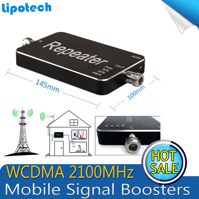 1000 Square Meters Coverage Area,1pcs x UMTS 3G WCDMA 2100mhz 85dB Gain WCDMA 2100MHz Booster/Repeater,2100 Signal Amplifier