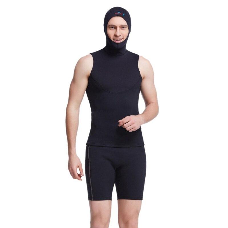 3mm Neoprene Scuba Diving Cap Con Le Spalla Attrezzatura Per Lo Snorkeling Cappello Cappuccio Di Copertura Del Collo Di Nuotata Invernale Muta Caldo Proteggere I Capelli