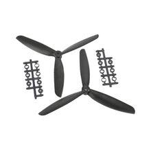Hélice de brinquedo rc 8045 com 3 folhas, abs cw/ccw para quadricóptero 330, kit de moldura para modelo de brinquedo