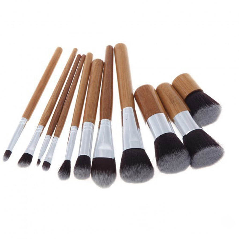 Analytical 11pcs High Quality Bamboo Wood Handle Makeup Eyeshadow Blush Concealer Brushes Set Dropshipping To Be Highly Praised And Appreciated By The Consuming Public
