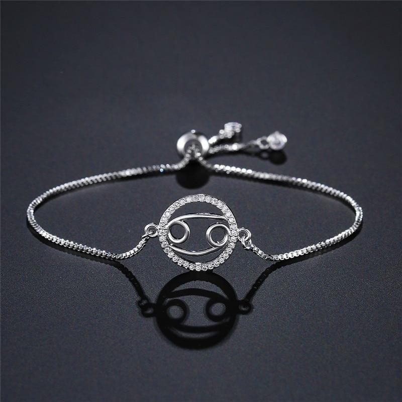 12 Constellation Cubic Zirconia Zodiac Bracelet