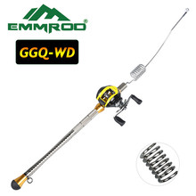 EMMROD 80CM Bait Casting Rod Lure Fishing Boat/Raft Telescopic Tackle Weight GGQ-WD