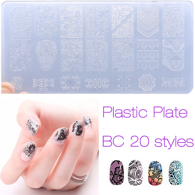 New Nail Art Stamping Plate Engineering Plastic Plate Nail Art DIY Tools Manicure Pedicure Flower Lace Gift Hot Beauty Gift