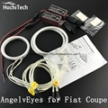 HochiTech БЕЛЫЙ 6000 К CCFL Фар Halo Angel Demon Eyes Комплект angel eyes свет Для Fiat Coupe 1993-2000