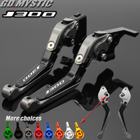 CNC Motorcycle adjustable Extendable brake Clutch Levers For KAWASAKI Scooter J300 J 300 2014 2015 2016 2017 2018