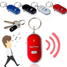 LED Light Torch Remote Sound Control Lost Key Car Motor Finder Locator Keychain Mini Alarm Locator Track Key Wallet Phone(China)