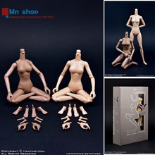 """1:6 Female Body """"Mermaid Posture"""" Dual Pack Middle Bust Flexible Body Fish Sitting Nude Action Figure Collectible Doll Toys"""