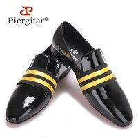 2017 бренд Piergitar ручной работы Для мужчин из лакированной кожи Обувь Кружево до носить удобные Для мужчин платье свадебные туфли для выпускно