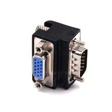 Monitor de 90 grados hacia abajo, ángulo recto VGA SVGA macho a VGA de 15 pines con entrada hembra, adaptador para PC, portátil y TV, 1 Uds.
