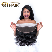 No Odor Brazilian Body Wave Closure Free Part 13X4 Ear to Ear Lace Frontal with Baby