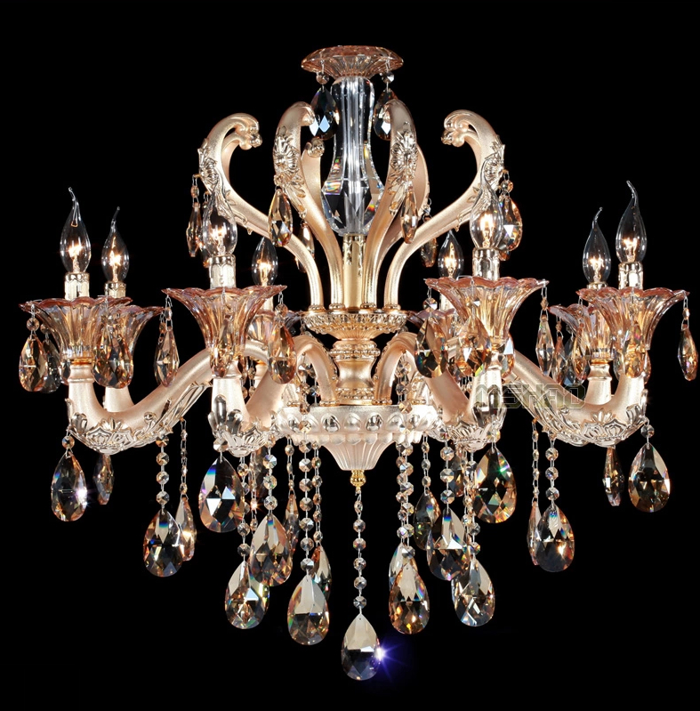 Luxury series 6,8,10head gold living room crystal chandelier dining room decoration  light hotel room light modern crystal chandelier hanging lighting birdcage chandeliers light for living room bedroom dining room restaurant decoration