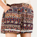 S-XXXL 2016 Summer New Casual Fashion Bohemia Printed Loose Bermuda Elastic Waist Women Yo-Ga Sport Mini Boho