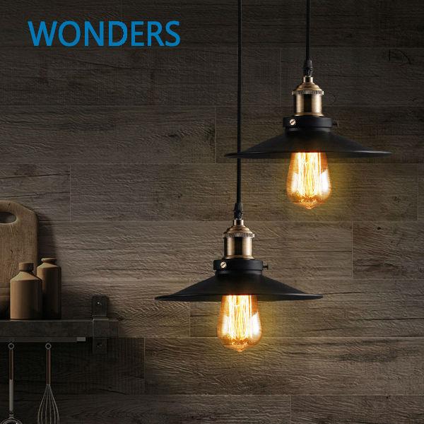 Лофт металлический подвесной светильник Лофт Северная Европа американский винтаж для ресторана / спальни Украшение дома Черный с лампой Эдисона