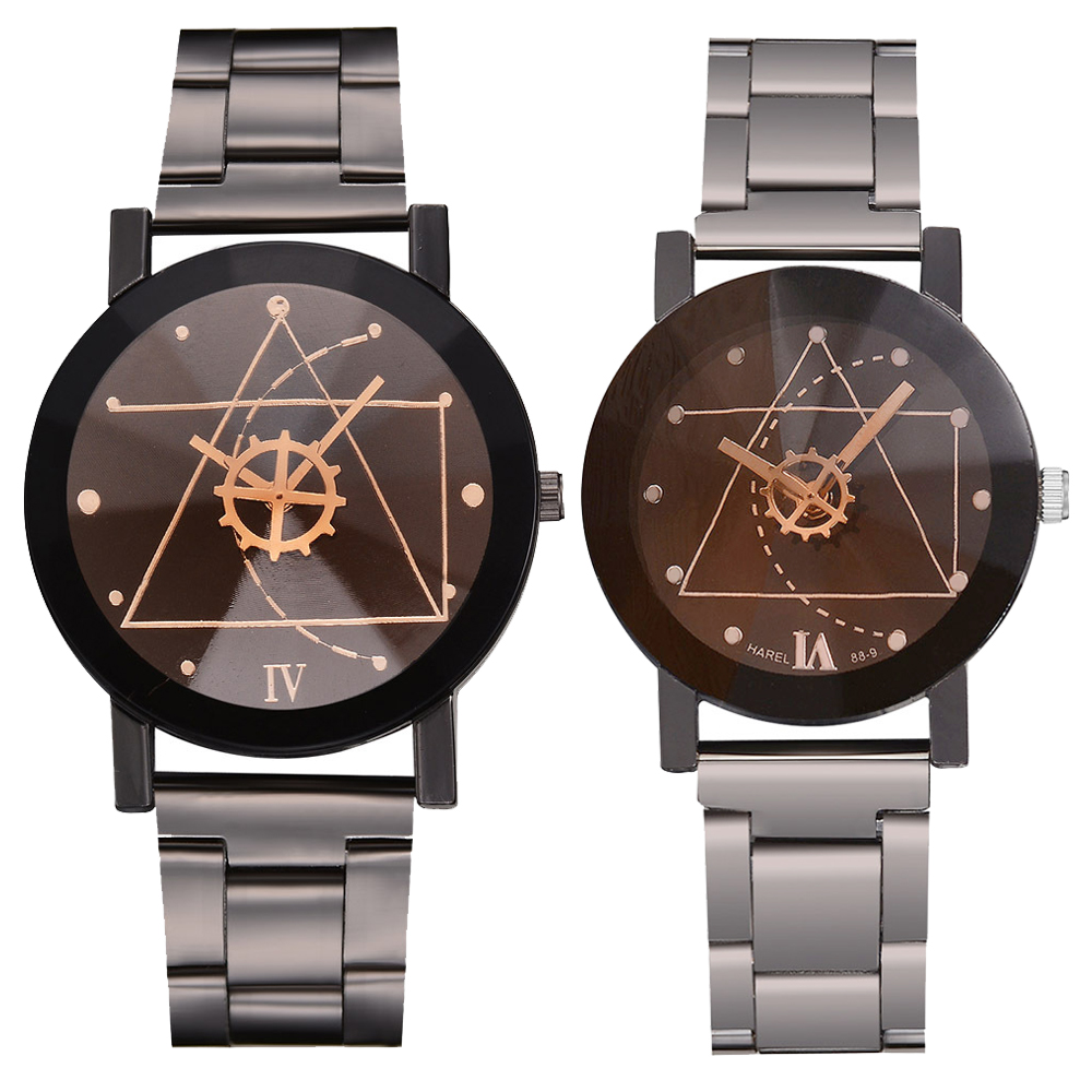 Reloj Couple Watch Stainless Steel Creative Watch Quartz Simulation Men's Watch Timing Lady Clock Gift Saat Montre Connectee