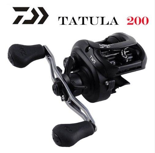 Оригинальная японская Рыболовная катушка DAIWA TATULA 200 H 200HL 200HS 200HSL Низкопрофильная катушка для заброса 7BB + 1RB