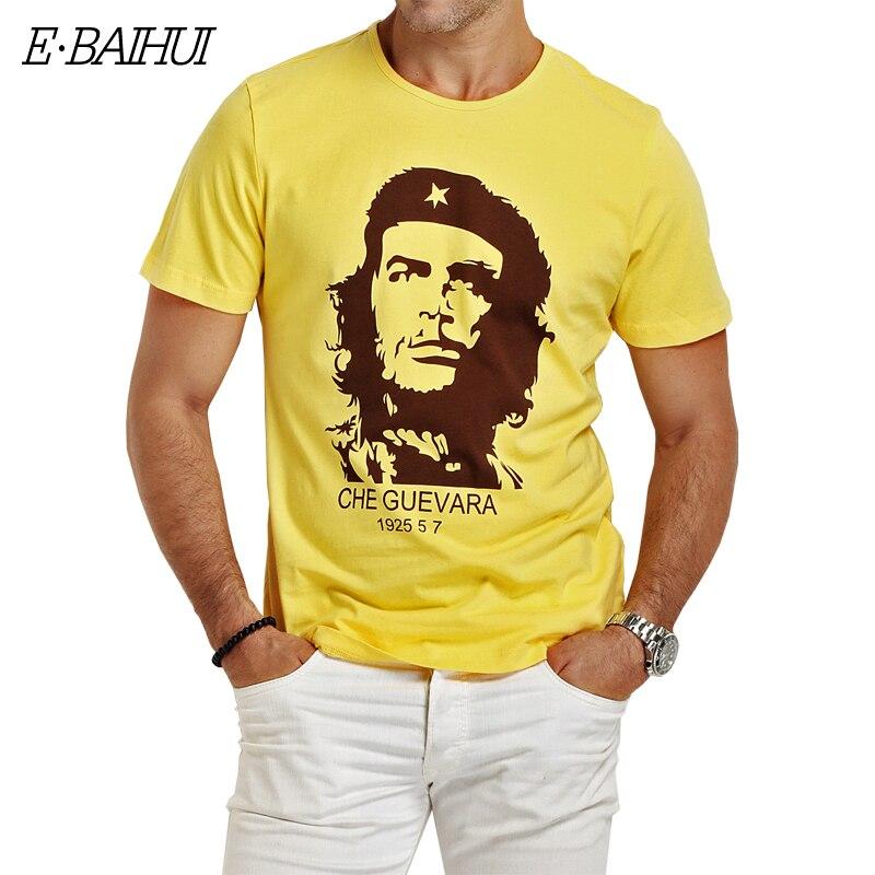 E-BAIHUI CHE GUEVARA summer o neck 3d print shirt ms