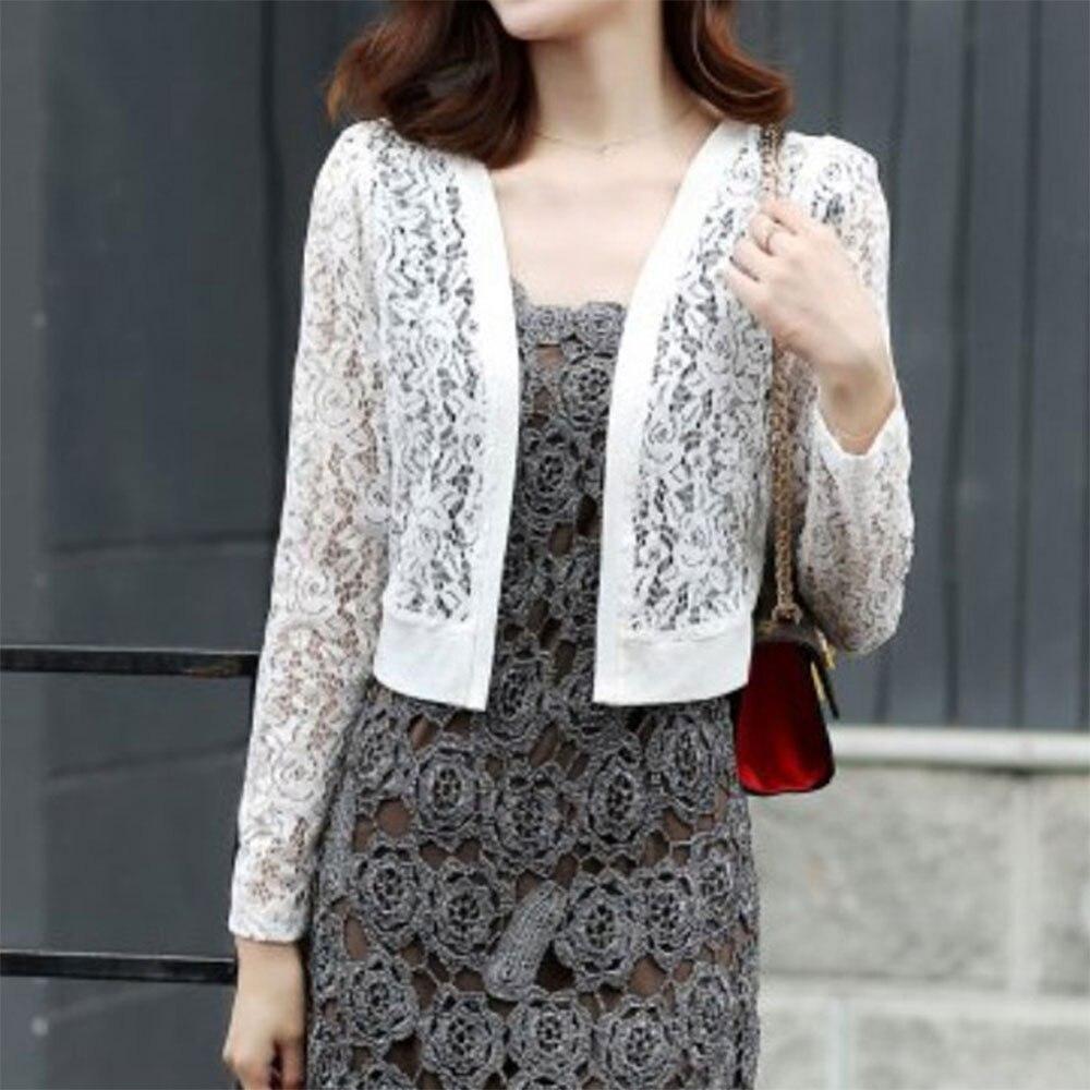 Aliexpress.com : Buy 2017 White Long Sleeve Lace Blouse Women ...