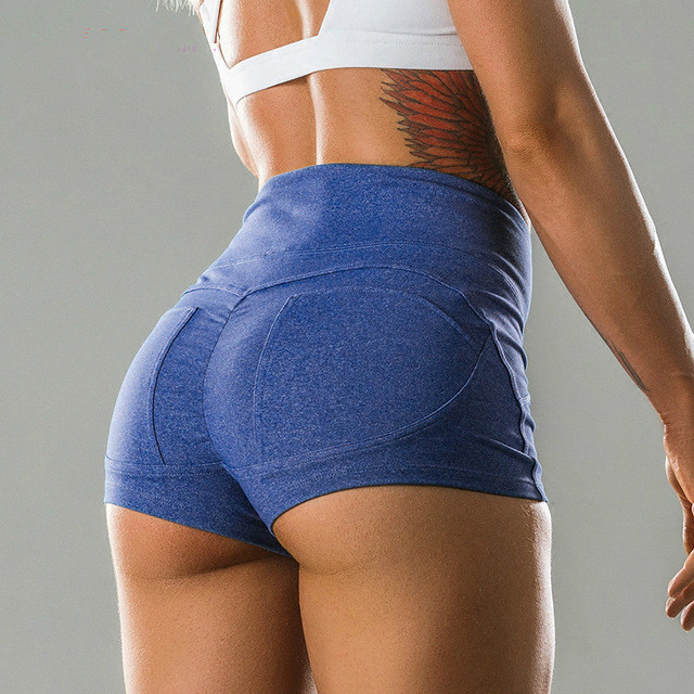 Sexy High Waist Sports Running Exercise Workout Training -5956