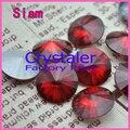 100 pçs/lote Siam COR 8 MM 10 MM 12 MM 14mm 16mm 18mm 20mm Chinês Top qualidade Rodada Fantasia Pedra Rivoli contas de vidro
