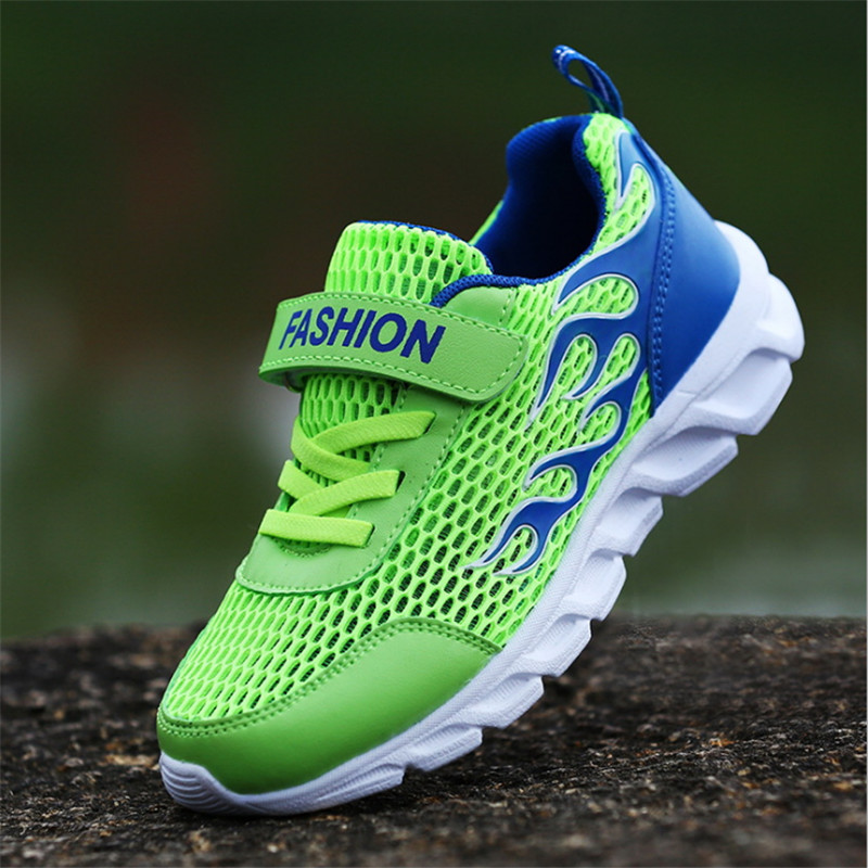 Hot 2019 Summer Kids Shoes For Boys Children Sport Shoes Mesh Fashion Kids Sneakers Breathable Comfortable Boys Sneakers 30-38