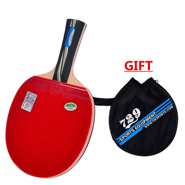 [Playa PingPong] RITC 729 Friendship 2060 2040 Pips-In Table Tennis Racket with Case for PingPong