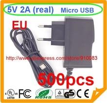 500pcs High quality IC 1PCS Model B 1GB Ras PI 2 Raspberry PI Power Adapter 5V2A Charger Power Adapter Banana BPI-M1+,BPI-M1 EU