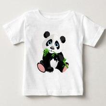 Футболка детская с круглым вырезом и принтом «панда»
