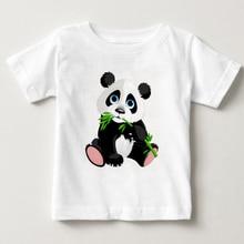 2018 Selling Fashion Round Collar T Shirt Print Finger Adorable Panda girl T-Shirt  Summer Clothes Casual kids T-shirt children