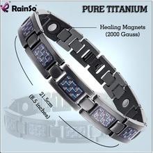 Rainso Fashion Jewelry Bracelets & Bangles Bio Energy Healing Titanium Magnetic Bracelet Men Jewelry Love Bracelet Gift For Men