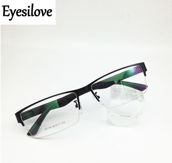Eyesilove Finished myopia glasses men's large eyewear metal Nearsighted Glasses big face prescription eyeglasses -1.0 to -6.0