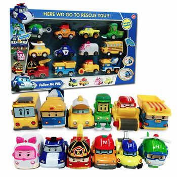 12pcs/Box New Korea Robocar Poli Anime Action Figure Toys Robocar Poli Pull Back Robot Car Model Toys For Kids Best Gift - Category 🛒 Toys & Hobbies