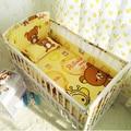 Monkey car bear cartoon Crib Baby Bedding Sets 100%Cotton 6pcs/set Bed Around protector crib bumpers / Bed sheet / pillowcase