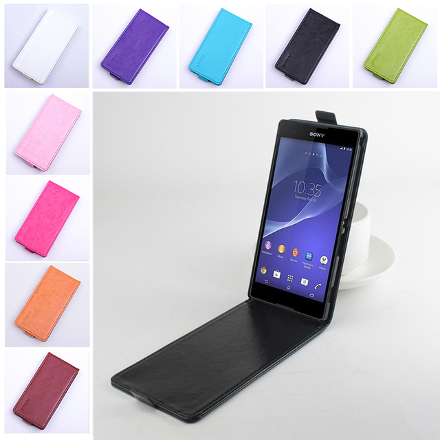premium selection ae5cd d1fc2 US $4.99 30% OFF|Fashion 9 colors Flip Leather Cover Case for Sony Xperia  T2 Ultra D5303 / Dual D5322 XM50h Vertical Back Cover Open Up and Down-in  ...