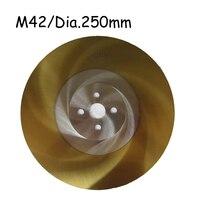 Dia.250мм HSS циркулярное M42 лезвие с Оловянным покрытием для резки нержавеющей стали и резки металла