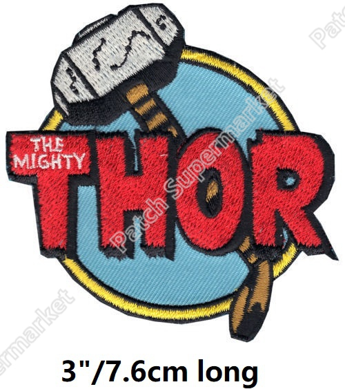 Avengers Infinity War Thor The Mighty Iron On Patches Superhero Marvel Comics Embroidered badge halloween costume