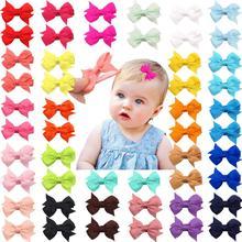 50 шт., 25 цветов в парах, полностью выложенные заколки для волос для маленьких девочек, крошечные заколки для волос 2 дюйма, банты для волос, зажимы для маленьких девочек, младенцев, малышей