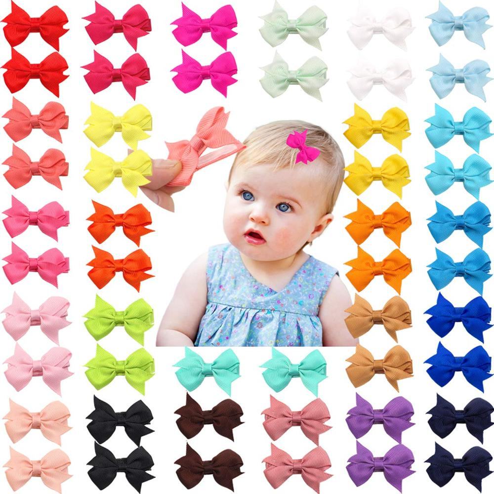 50 Pieces 25 Colors In Pairs Baby Girls Fully Lined Hair Pins Tiny 2