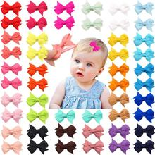 цена на 50 Pieces 25 Colors in Pairs Baby Girls Fully Lined Hair Pins Tiny 2