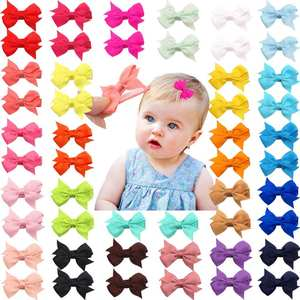 Hair-Pins Alligator-Clips Tiny Toddler Girls Little Infants for 50pieces 25-Colors 2-Fully-Lined