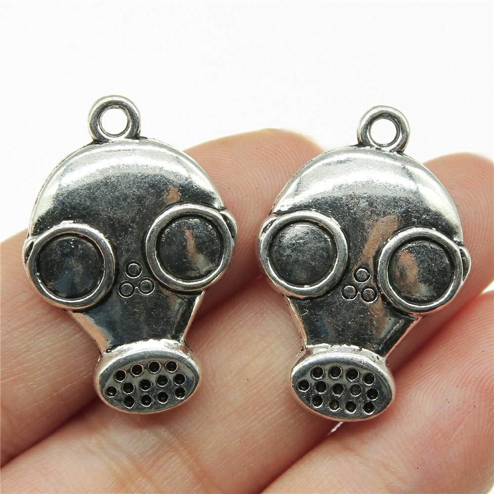 Back To Search Resultsjewelry & Accessories Necklaces & Pendants 2019 Fashion 20pcs Antique Silver Color Gas Mask Steampunk Pendant 28*19mm Leather Chain Necklace Black Leather Cord Necklace