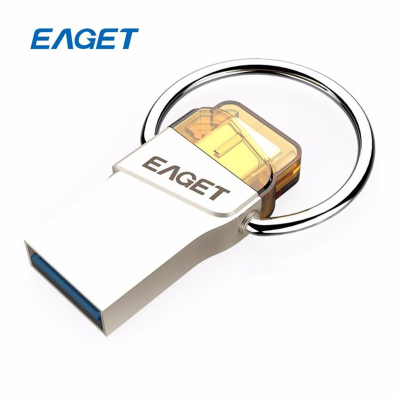 цена на Eaget OTG Usb flash drive 8GB 16GB 32GB 64GB Pen Drive 32GB Usb 3.0 High Speed Flash Disk Pendrive USB stick For Xiaomi Phone PC