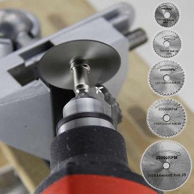 7Pcs/Set HSS Circular Wood Cutting Saw Blade Disc Mandrels For Dremel Rotary Tool