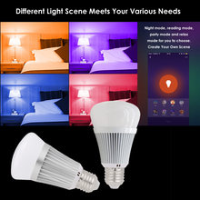 Light Bulb 7W Smart WIFI LED Bulb RGB Multicolor Dimmable Light Remote Control / Voice Control Compatible with Alexa Google Home(China)