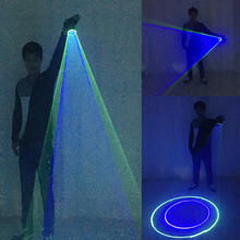 Free Shipping Blue Green Laser Gloves  For DJ Dancing Club True Rotating LED Light Pub Party Show