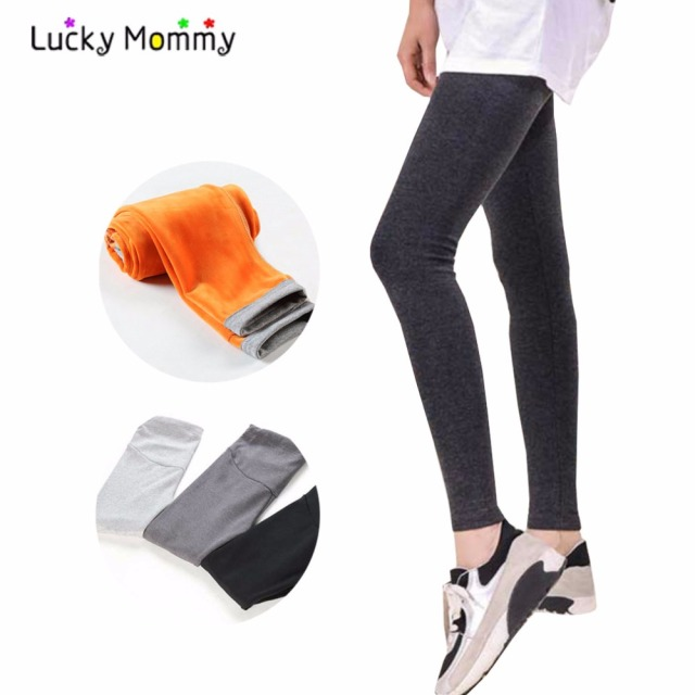 Maternity Leggings Winter Warm Pregnancy Trousers High-waisted Belly Care Maternity Pants Pregnant Women Clothes Clothing