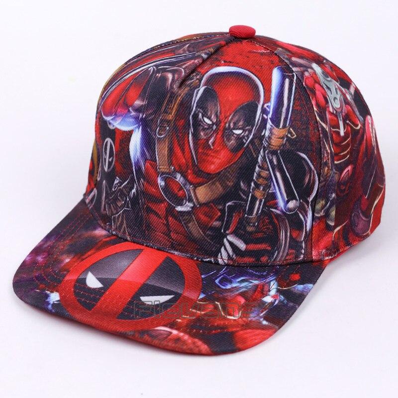 Free Size Deadpool Fashion   Caps   Men Boy Printed Style Flat Sun Hat Trendy   Baseball     Cap   Brand Snapback Hat