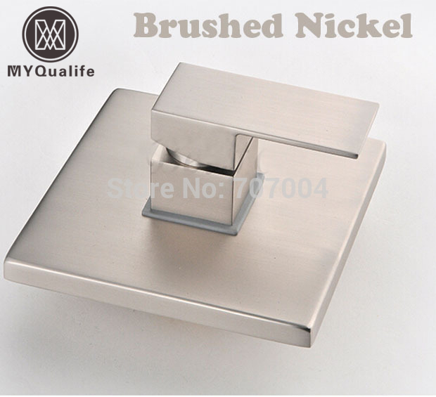 Brushed Nickel Concealed Install Single Handle Control