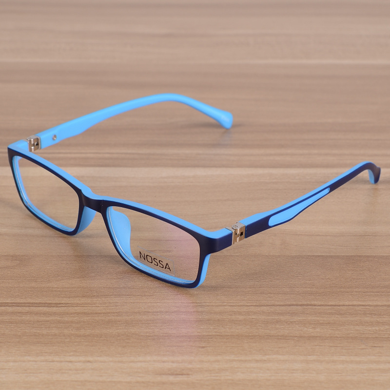 Kids Eyeglasses Barn Unbreakable TR90 Glasses Frame Optiska Prescription Eyewear Frames Girls Boys Blue Patchwork Glasses